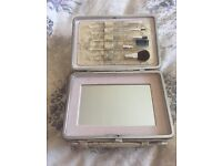 Manicure and make up brush vanity case