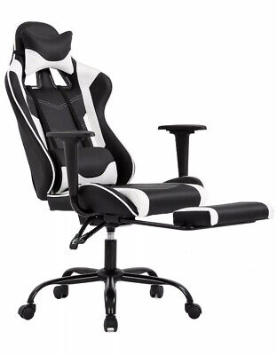 Ergonomic Office Chair Pc Gaming Chair Desk Chair Executive Pu Leather Comput...