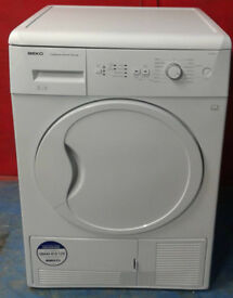 h311 white beko 8kg B rated condenser dryer comes with warranty can be delivered or collected