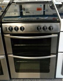e247 stainless steel belling 60cm double oven gas cooker comes with warranty can be delivered