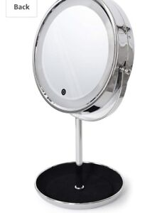 LED Lighted Makeup Countertop 5X Magnifying Mirror