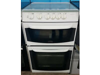 K497 white cannon 55cm single oven gas cooker comes with warranty can be delivered or collected