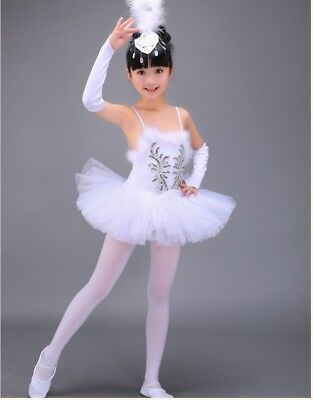 Professional White Swan Lake Ballet Tutu Costume Girls Children Ballerina Dress - White Swan Costume Kids