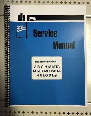 W4, Super W4 International Tractor Technical Service Shop Repair Manual Farmall for sale  Patton