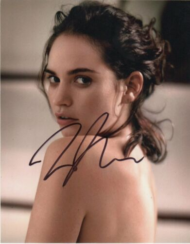 Lily James Sexy Autographed Signed 8x10 Photo COA #J3