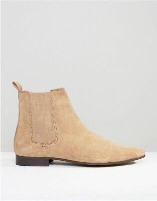 Walk London Mens Mark Tall Chelsea Boots Stone UK 7 EU 40.5 LN29 72