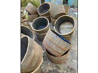 Half barrel planters & full size barrels