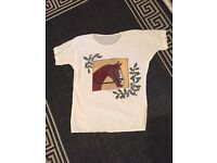 Size 10 vintage horse tshirt