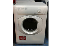 C240 White Hotpoint 7kg Vented Dryer, Comes With Warranty & Can Be Delivered Or Collected