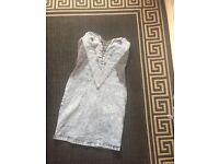 Size 10 denim acid wash dress