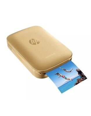 HP Sprocket Portable Photo Printer - Gold. Zinc.  Brand New.  Sealed