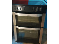 c508 black & silver 60cm ceramic electric cooker comes with warranty can be delivered or collected