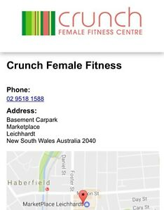 Crunch fitness Leichhardt female gym membership Leichhardt Leichhardt Area Preview