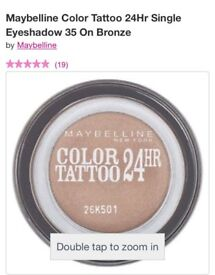 Maybelline Colour Tattoo 25HR Eye Shadow - Bronze