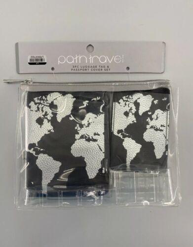 NEW Path Travel Luggage Tag and Passport Holder Set World Traveler MSRP $17.99