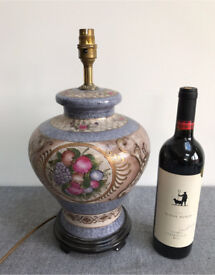 Large Ginger Jar Style Pottery Table Lamp