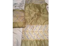 Dunelm bed throw and cushion