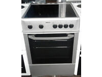 Z252 silver beko 60cm ceramic hob electric cooker comes with warranty can be delivered or collected
