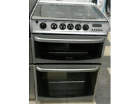 a162 silver cannon 60cm double oven gas cooker comes with warranty can be delivered or collected