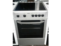 C252 silver beko 60cm ceramic hob electric cooker comes with warranty can be delivered or collected