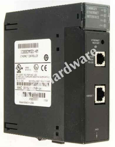 GE Fanuc IC693CMM321-KM 90-30 Series Ethernet Interface Controller IC693CMM321