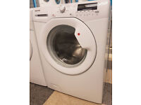 u470 white hoover 8kg 1400spin A* washing machine comes with warranty can be delivered or collected