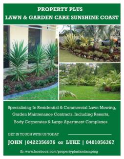 Property Plus Lawn & Garden Care Buderim Maroochydore Area Preview