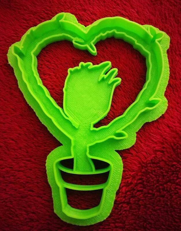 Set of 6 Valentines Geeky Cookie Cutters