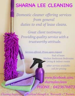 Sharna Lee Cleaning - Maitland Newcastle & Lower Hunter East Maitland Maitland Area Preview