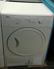 a052 white beko 7kg condenser dryer comes with warranty can be delivered or collected