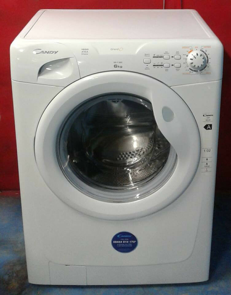 m375 white candy 6kg 1600spin A+AA rated washing machine comes with warranty can be delivered