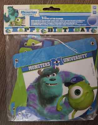 Monsters University Happy Birthday Jointed Banner