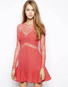 NWT Three Floor One Oh One Lace Coral Dress s6 Frenchs Forest Warringah Area Preview