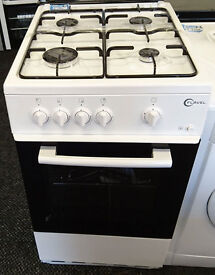 D071 white beko 50cm single cavity gas cooker graded with 12 months warranty can be delivered