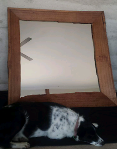 Large natural edge timber framed mirror Gnarwarre Surf Coast Preview