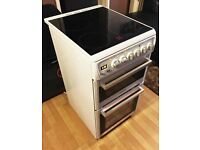 Hotpoint EW48P Free Standing 50cm Double Electric Cooker Ceramic Hob