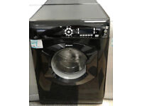 c151 black hotpoint 8kg 1400spin washing machine comes with warranty can be delivered or collected