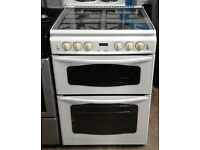b313 white stoves 60cm gas cooker comes with warranty can be delivered or collected