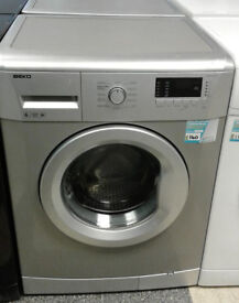 x600 silver beko 6kg 1600spin A+ washing machine comes with warranty can be delivered or collected