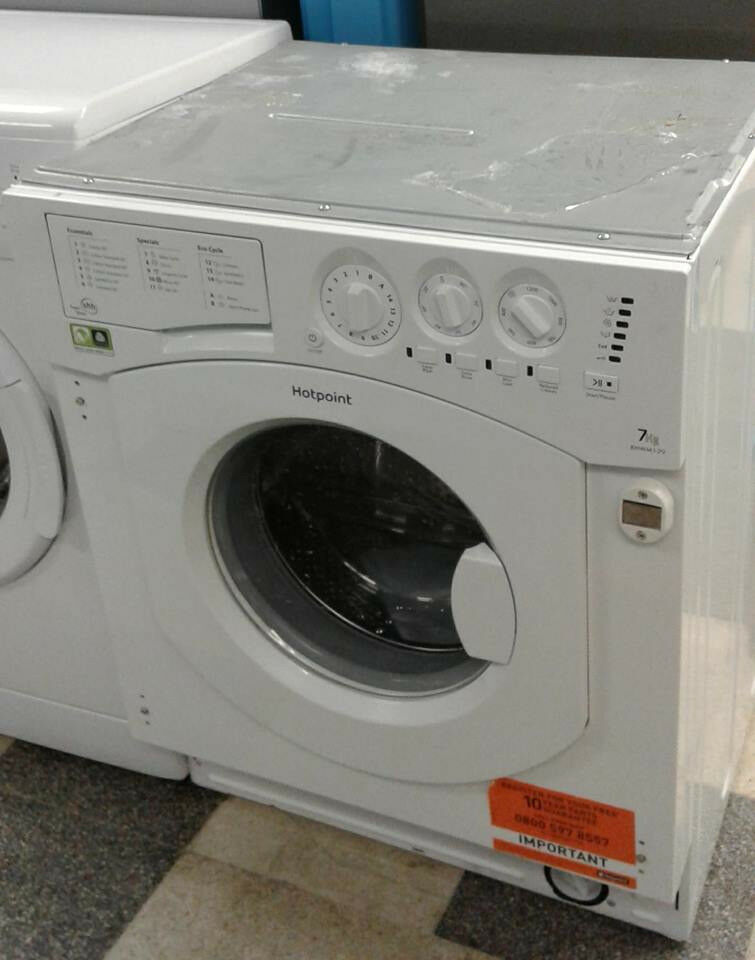 H116 white hotpoint 7kg 1200spin integrated washing machine comes with warranty can be delivered