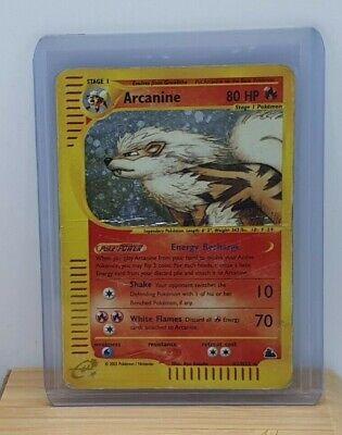 Arcanine Holo Foil / Shiny E Series Pokemon TCG Card Skyridge H2/H32 Heavy Play