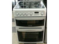 a024 white cannon 60cm gas cooker comes with warranty can be delivered or collected