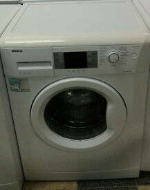 o383 white beko 7kg 1400spin A++ rated washing machine comes with warranty can be delivered