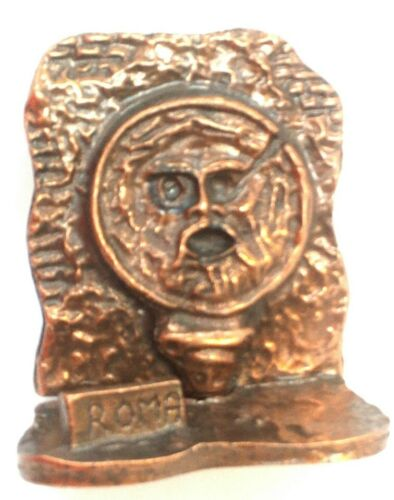 The Mouth of Truth Bronze Rome Souvenir Figurine, Made in Italy