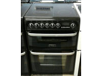 a425 black cannon 60cm double oven ceramic hob electric cooker comes with warranty can be delivered
