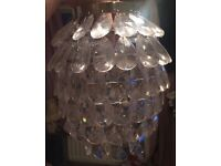 Glass chandelier style light shade
