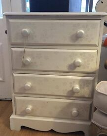 Stunning Pearlized Chest of Drawers