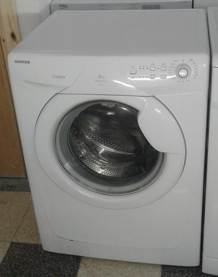 c647 white hoover 6kg 1600spin A+AA washing machine come with warranty can be delivered or collected