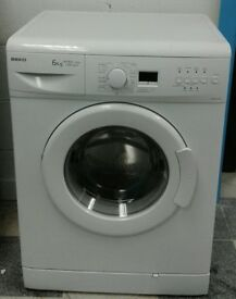 j286 white beko 6kg 1500 spin washing machine comes with warranty can be delivered or collected