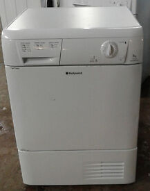 F448 white hotpoint 7kg condenser dryer comes with warranty can be delivered or collected
